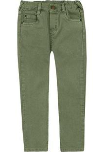 Calça Jeans Bebê Puc Skinny Lisa Masculina - Masculino-Verde