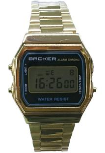 Relógio Masculino Backer Digital 15002475F - Unissex-Dourado