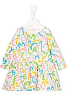 Stella Mccartney Kids Vestido Com Estampa De Logo - Branco