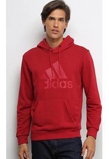 Moletom Adidas Mh Bos Po Ft Masculino - Masculino-Vermelho