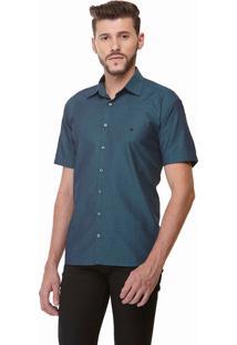 Camisa Clássica Maquinetada Manga Curta 1882 Verde