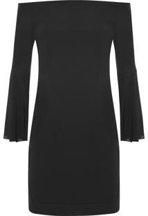 Vestido Decote Reto - Preto