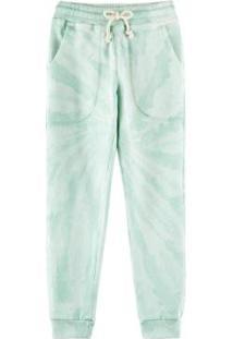 Calça Jogger Tie Dye Infantil Menino Em Moletom - 55Mf1Ben5 Masculina - Masculino-Verde