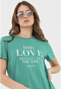 Camiseta Colcci Self Love Verde - Kanui