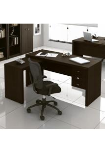 51821 Escrivaninha/Mesa Para Escritório Me4106 Tabaco - Tecno Mobili