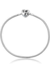 Pulseira De Prata 925 Charms De Coração - 20Cm