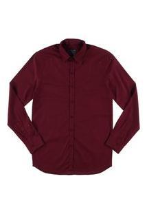 Camisa Juvenil Manga Longa Masculina Vermelho