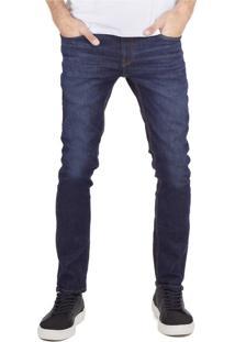 Calça Khelf Jeans Narrow Cinza Escuro