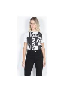 T-Shirt Maxi Branco Branco