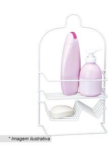 Porta Shampoo Duplo Luxo- Branco- 35X20,5X9,5Cm-Passerini