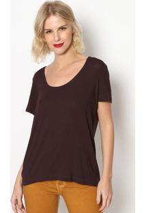 Camiseta Lisa - Marrom Escuro- Forumforum