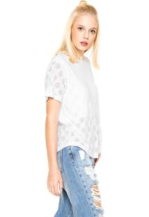 Camiseta Adidas Originals Burn Out Dots Branca