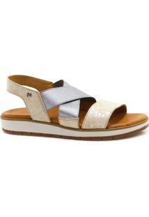 Sandália Flarform Zariff Shoes Elastano Branco