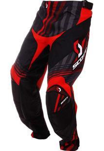 Calça De Motocross Scott Mx 450 Series Vermelha