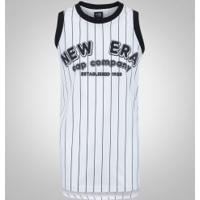 9b5627d059 Camiseta Regata New Era Jersey Listras - Masculina - Branco Preto