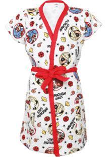Roupão Infantil Lepper Ladybug Vermelha