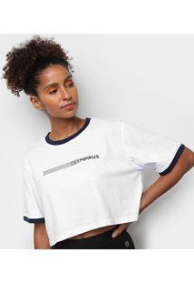 Camiseta Olympikus Oversized Print Manga Curta Feminina - Feminino