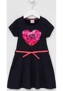 Vestido Infantil Com Glitter Estampa De Paêtes - Tam 5 A 14 Anos