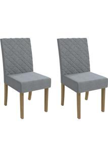 Cadeiras Kit 2 Cadeiras Cad133 Freijó/Bege - Kappesberg