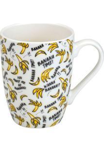 Caneca Banana Branca E Amarela 330 Ml