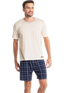 Pijama Curto Estampado Olavo