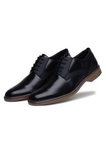 Sapato Social Preto Conforto Solado Bicolor 45026