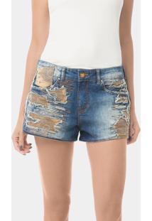 Shorts Hawaii Recortes Jeans - Lez A Lez