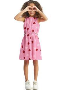 Vestido Rosa Godê Com Abertura