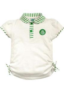 Camiseta Polo Meia Malha Menina Palmeiras Reve Dor - 3 Anos - Feminino fde7607a1fc5f