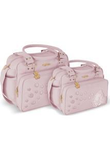 Kit Bolsa Griff Beb㪠Rosa Kit Maternidade Enxoval Menina 20Ol11 - Rosa - Dafiti