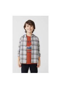 Camisa Infantil Menino Manga Longa Fio Tinto