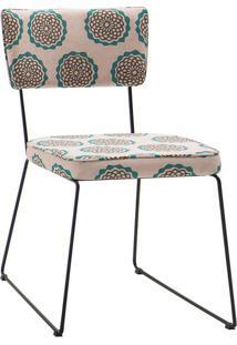 Cadeira Roma Linho Bege E Fendi