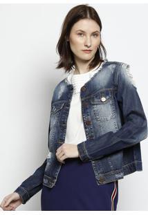 Jaqueta Jeans Com Bolsos - Azulscalon