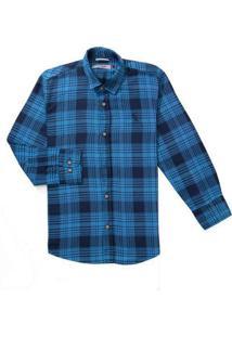 Camisa Mini Pf Ft Xadrez Snipe Reserva Mini Azul