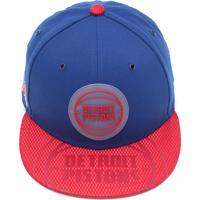 25bd02454 Boné New Era Detroit Pistons Azul Vermelho