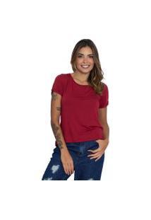 Camiseta Básica Le Julie Vinho