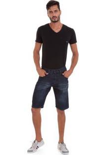 Bermuda Jeans Versani Masculino - Masculino-Cinza