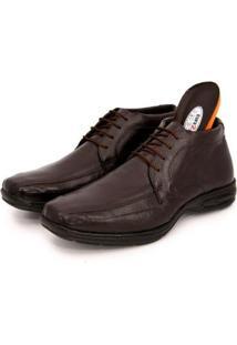 Sapato Social Br2 Footwear Couro Cano Médio Macio Masculino - Masculino