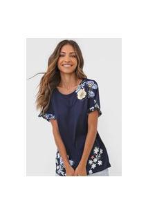 Camiseta Desigual Munich Azul-Marinho