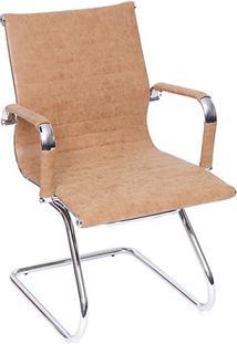 Cadeira Office Eames Esteirinha Retrô- Caramelo & Prateaor Design