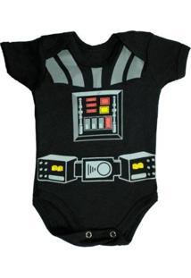 Body Bebê Piftpaft Geek Fantasia Enxoval - Unissex-Preto