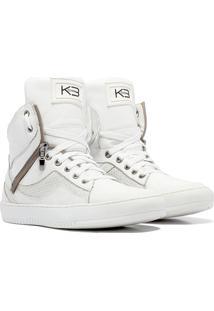 Sneaker K3 Fitness Pretty Branco - Kanui