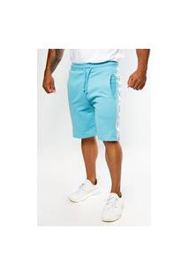 Bermuda Short Moletom Color Summer Premium Azul