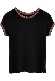 Camiseta Tea Shirt Pisa Preta