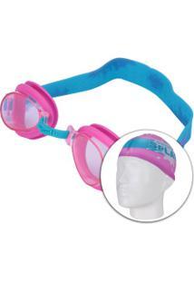 58e9f3746 Kit De Natação Speedo Splash Com Óculos + Touca + Bastão Flexível Jacaré -  Infantil -