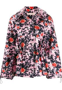 Marni Jaqueta Com Estampa Abstrata E Camuflada - Rosa