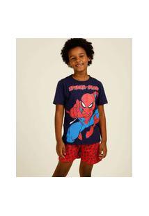 Pijama Infantil Manga Curta Homem Aranha Marvel Tam 4 A 12