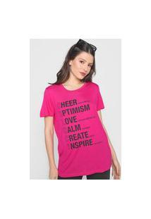 Camiseta Colcci Lettering Rosa