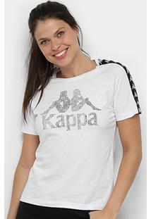 Camiseta Kappa Authentic Feminina - Feminino-Branco
