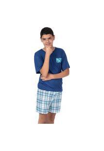 Pijama Juvenil Para Menino De Verão Victory